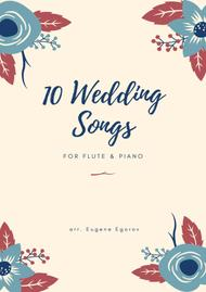 Various  Sheet Music 10 Wedding Songs For Flute & Piano Song Lyrics Guitar Tabs Piano Music Notes Songbook