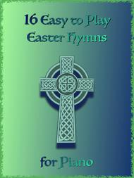 Various  Sheet Music 16 Easy to Play Easter Hymns for Piano Song Lyrics Guitar Tabs Piano Music Notes Songbook