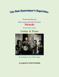 """The Beatles  Sheet Music """"Michelle"""" for Guitar and Piano-Video Song Lyrics Guitar Tabs Piano Music Notes Songbook"""