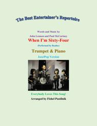"""The Beatles  Sheet Music """"When I'm Sixty-Four"""" for Trumpet and Piano-Video Song Lyrics Guitar Tabs Piano Music Notes Songbook"""