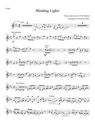 """The Weeknd  Sheet Music """"Blinding Lights"""" by The Weeknd (Violin Solo) Song Lyrics Guitar Tabs Piano Music Notes Songbook"""