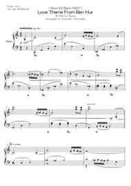 Tsuyoshi Yoroiguma  Sheet Music < Short EZ Piano #357 > Love Theme From Ben Hur Song Lyrics Guitar Tabs Piano Music Notes Songbook
