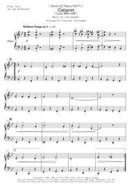 John Kander  Sheet Music < Short EZ Piano #371 > Cabaret  (Liza Minnelli) Song Lyrics Guitar Tabs Piano Music Notes Songbook