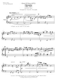 Billy Joel  Sheet Music < Short EZ Piano #372 > Honesty (Billy Joel) Song Lyrics Guitar Tabs Piano Music Notes Songbook