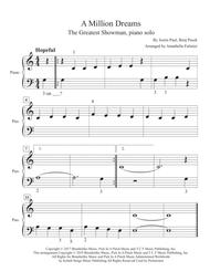 """Pink  Sheet Music """"A Million Dreams"""" from The Greatest Showman, compatible with Faber level 1, easy piano Song Lyrics Guitar Tabs Piano Music Notes Songbook"""