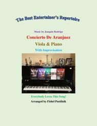 "Fishel Pustilnik  Sheet Music ""Concerto De Aranjuez"" for Viola and Piano-Video Song Lyrics Guitar Tabs Piano Music Notes Songbook"