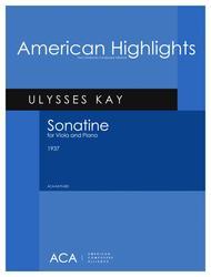 Ulysses Kay  Sheet Music [Kay] Sonatine for Viola and Piano Song Lyrics Guitar Tabs Piano Music Notes Songbook
