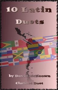 David McKeown  Sheet Music 10 Latin Duets, for Clarinet Song Lyrics Guitar Tabs Piano Music Notes Songbook