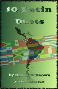 David McKeown  Sheet Music 10 Latin Duets, for Alto Saxophone Song Lyrics Guitar Tabs Piano Music Notes Songbook