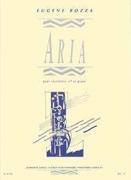 Aria - Clarinette Sib et Piano sheet music