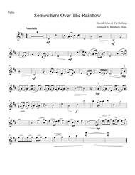 """Harold Arlen, Yip Harberg  Sheet Music """"Somewhere Over The Rainbow"""" from The Wizard Of Oz (Violin Solo) Song Lyrics Guitar Tabs Piano Music Notes Songbook"""