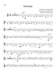 "Alexandra Burke  Sheet Music ""Hallelujah"" by Leonard Cohen (Easy Violin Solo) Song Lyrics Guitar Tabs Piano Music Notes Songbook"