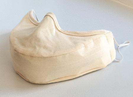 Singer's Mask Adult Size with Elastic Ear Loops (Beige)