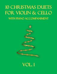 Various  Sheet Music 10 Christmas Duets for Violin and Cello with piano accompaniment vol. 1 Song Lyrics Guitar Tabs Piano Music Notes Songbook