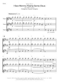 Tsuyoshi Yoroiguma  Sheet Music <Flute Trio> I Saw Mommy Kissing Santa Claus Song Lyrics Guitar Tabs Piano Music Notes Songbook