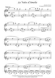 """Amelie  Sheet Music """"La Valse d'Amelie"""" for Piano Song Lyrics Guitar Tabs Piano Music Notes Songbook"""