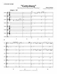 "Randy Edelman  Sheet Music ""Gettysburg"" Main Theme for 8 Horns Song Lyrics Guitar Tabs Piano Music Notes Songbook"