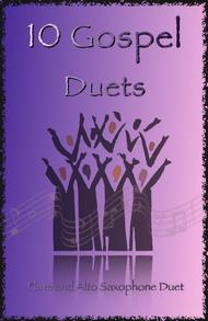 Traditional  Sheet Music 10 Gospel Duets for Flute and Alto Saxophone Song Lyrics Guitar Tabs Piano Music Notes Songbook