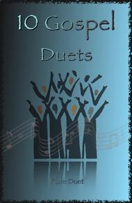 Traditional  Sheet Music 10 Gospel Duets for Flute Song Lyrics Guitar Tabs Piano Music Notes Songbook