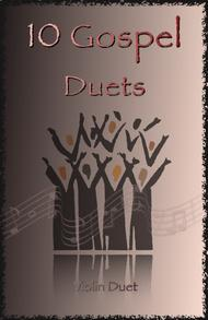 Traditional  Sheet Music 10 Gospel Duets for Violin Song Lyrics Guitar Tabs Piano Music Notes Songbook