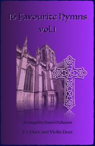 Various  Sheet Music 16 Favourite Hymns Vol.1 for Flute and Violin Duet Song Lyrics Guitar Tabs Piano Music Notes Songbook