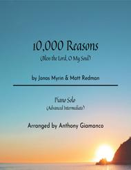 Matt Redman  Sheet Music 10,000 Reasons (Bless The Lord) - piano solo Song Lyrics Guitar Tabs Piano Music Notes Songbook