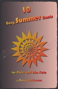 David McKeown  Sheet Music 10 Easy Summer Duets for Flute and Alto Flute Song Lyrics Guitar Tabs Piano Music Notes Songbook