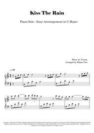 """Yiruma  Sheet Music """" Kiss The Rain """" for Piano Solo (Easy Level in C) Song Lyrics Guitar Tabs Piano Music Notes Songbook"""