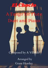 """A Villoldo  Sheet Music """"El Choclo"""" A Tango for Flute Duet and Piano- Early Intermediate Song Lyrics Guitar Tabs Piano Music Notes Songbook"""