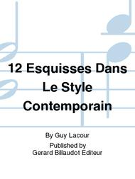 Guy Lacour  Sheet Music 12 Esquisses Dans Le Style Contemporain Song Lyrics Guitar Tabs Piano Music Notes Songbook