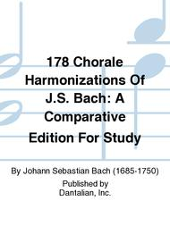 Johann Sebastian Bach  Sheet Music 178 Chorale Harmonizations Of J.S. Bach: A Comparative Edition For Study Song Lyrics Guitar Tabs Piano Music Notes Songbook