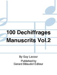 Guy Lacour  Sheet Music 100 Dechiffrages Manuscrits Vol. 2 Song Lyrics Guitar Tabs Piano Music Notes Songbook