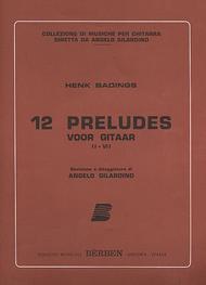 Henk Herman Badings  Sheet Music 12 Preludes Song Lyrics Guitar Tabs Piano Music Notes Songbook