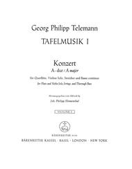 Concerto for Flute, Violin, Violoncello, Strings and Basso continuo A major TWV 53:A 2 sheet music