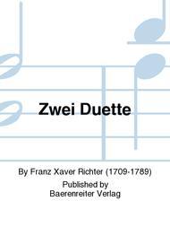 Zwei Duette sheet music