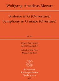 Symphony, No. 32 G major, KV 318