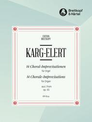 Sigfrid Karg-Elert  Sheet Music 14 Chorale Improvisations from Op. 65 Song Lyrics Guitar Tabs Piano Music Notes Songbook
