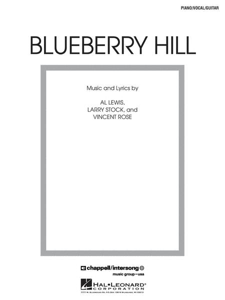 Sheet Music Fats Domino Blueberry Hill