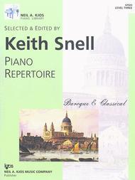Neil A. Kjos Piano Library Piano Repertoire: Baroque/Classical Level 3 sheet music