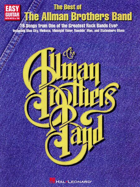 The Best Of The Allman Brothers Band - Easy Guitar Sheet Music By ...