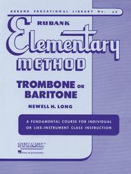 Rubank Elementary Method - Trombone or Baritone sheet music