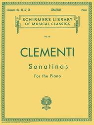 Muzio Clementi  Sheet Music 12 Sonatinas, Op. 36, 37, 38 Song Lyrics Guitar Tabs Piano Music Notes Songbook