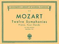 Wolfgang Amadeus Mozart  Sheet Music 12 Symphonies - Book 2: Nos. 7-12 Song Lyrics Guitar Tabs Piano Music Notes Songbook
