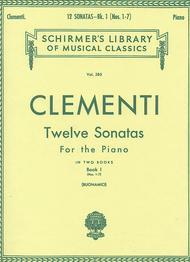 Muzio Clementi  Sheet Music 12 Sonatas - Book 1 Song Lyrics Guitar Tabs Piano Music Notes Songbook