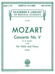 Violin Concerto No. 5 in A Major, K. 219 - Violin/Piano