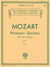 Wolfgang Amadeus Mozart  Sheet Music 19 Sonatas - Book 1 Song Lyrics Guitar Tabs Piano Music Notes Songbook
