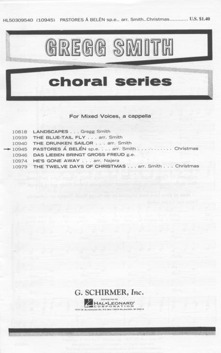 sheet music pastores a belen solo shepherds of belen spanish christmas carols