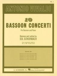 Antonio Vivaldi  Sheet Music 10 Bassoon Concerti, Vol. 1 Song Lyrics Guitar Tabs Piano Music Notes Songbook