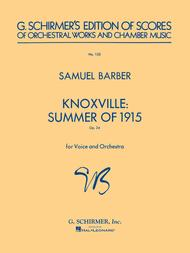 Knoxville: Summer of 1915, Op. 24 sheet music