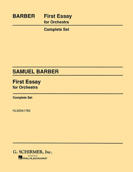 samuel barber essay for orchestra Samuel barber: essay no2 for orchestra, op17 - play streams in full or download mp3 from classical archives (classicalarchivescom), the largest and best organized.